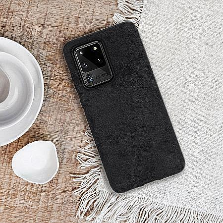 trendy eco alcantara material skin-friendly Galaxy S20 Ultra 5G case mobile phone accessory good quality