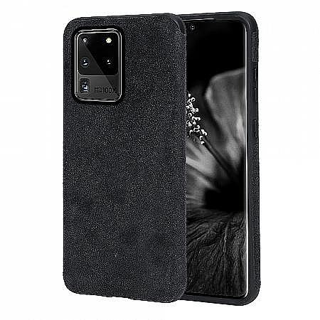 luxury quality hybrid alcantara Galaxy S20 Ultra 5G protective case uk tpu shock absorbing cover